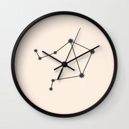 Libra Zodiac Constellation Charcoal Wall Clock