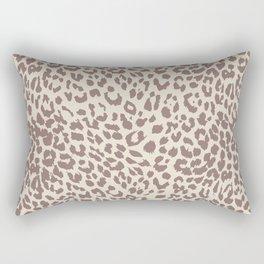 Light Tan Leopard Rectangular Pillow