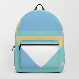 Triangle origami pastel pattern art Backpack