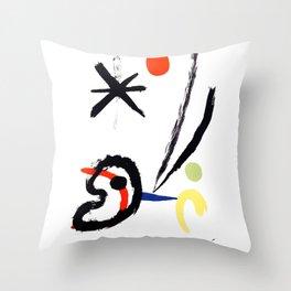 Joan Miro - Comet Bird (L'oiseau Comet) 1951 Artwork Throw Pillow