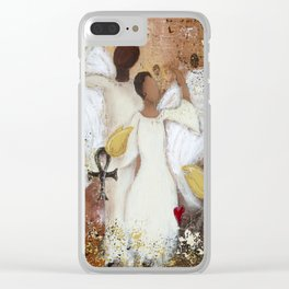 Be Optimistic Clear iPhone Case