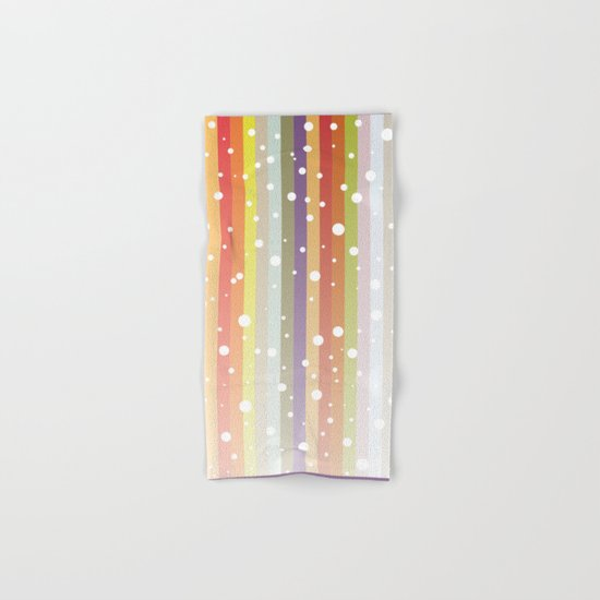 Snow falls on the rainbow Hand & Bath Towel