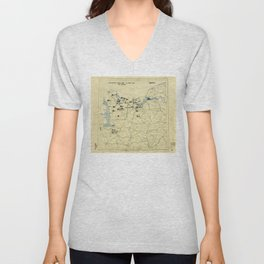 June 6 1944 D-Day World War II Twelfth Army Group Situation Map Unisex V-Neck