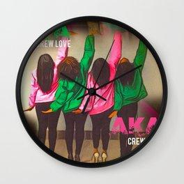 AKA Crew Love Wall Clock