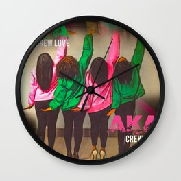AKA Crew Love Wall Clock