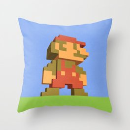 Mario NES nostalgia Throw Pillow