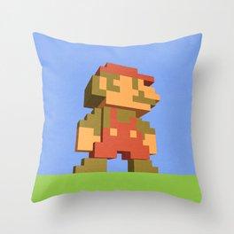 Mario NES nostalgia Throw Pillow