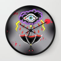 evil eye Wall Clocks featuring Evil Eye.  by Alyssa Hall