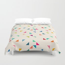 Seamless geometric pattern with triangles Duvet Cover