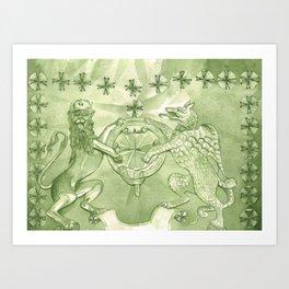 Color Project No. 10, Chromium Oxide Green Art Print