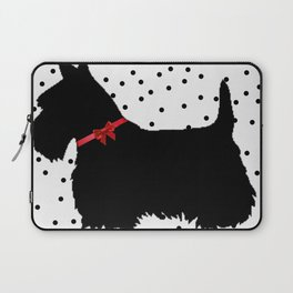Christmas Scottie Dog Laptop Sleeve