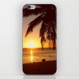 Cook Islands sunset iPhone Skin