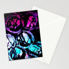 cyan ink top Stationery Cards