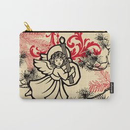 angel bringing a happy holiday message Carry-All Pouch
