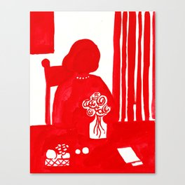 Red Lady Canvas Print