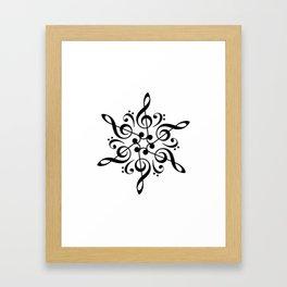 Sol key mandala Framed Art Print