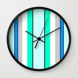 Aquafresh Curtains Wall Clock