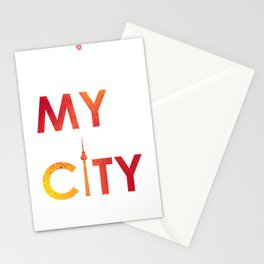 MyCity-Berlin-RedYellowB Stationery Cards