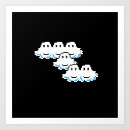 Super Mario Clouds Art Print
