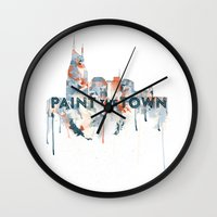 nashville Wall Clocks featuring + Nashville Skyline + by BANBAN