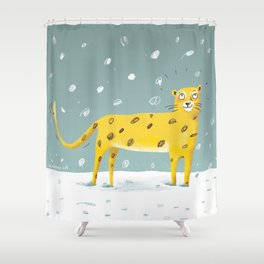 snowpard Shower Curtain