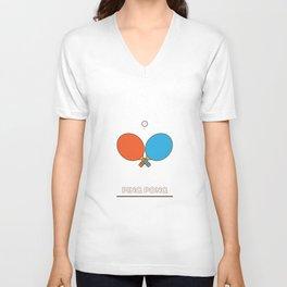 I am the sport! part1 ping pong  Unisex V-Neck