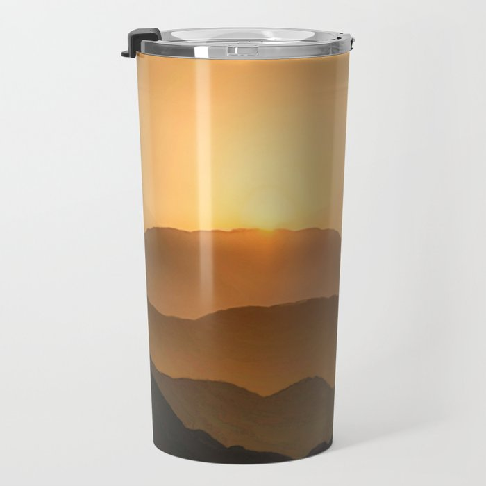 Sunrise in the mountains - beautiful morning - #Society6 #buyart Travel Mug