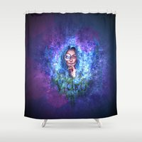 video games Shower Curtains featuring Video by Kimmie Fransson