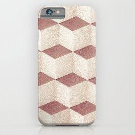 Cubic geometric pattern textile design for home decoration iPhone Case