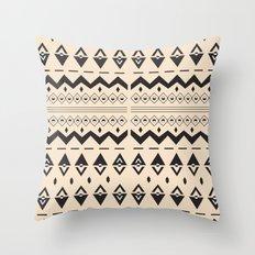 Peach Aztec Throw Pillow