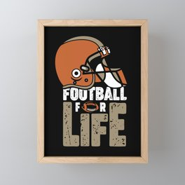football funny american sports fantasy love team Framed Mini Art Print