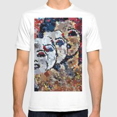 She's A Beautiful Mess White Mens Fitted Tee MEDIUM