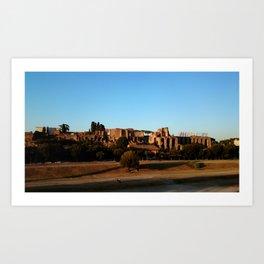 Roman ruin in Rome photography Art Print