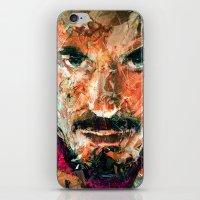 tony stark iPhone & iPod Skins featuring TONY STARK by DITO SUGITO
