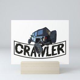 Offroad Scale rc cars a Crawling rock crawler car Edit Mini Art Print