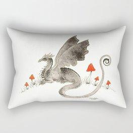 Dragon with Mushrooms Rectangular Pillow