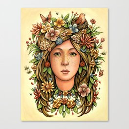 Mother Nature's Daughter Canvas Print
