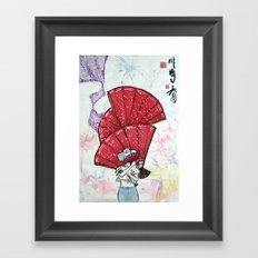 The Pink Spring Framed Art Print