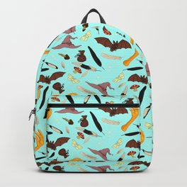 Halloween Pattern with Blue Background Backpack
