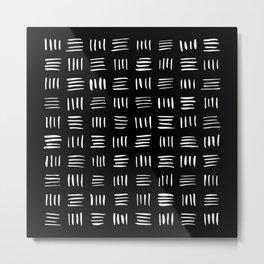 Lines on Lines // White Metal Print