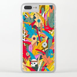 Jungle Party Clear iPhone Case