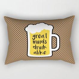 Beer - Great Minds Rectangular Pillow