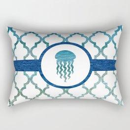 Jellyfish: Tropical Water Moroccan Pattern Rectangular Pillow