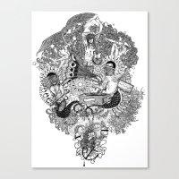 celebrity Canvas Prints featuring Celebrity by Christina Grace Vergona