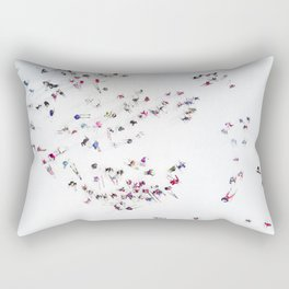 Aerial view of skiers Rectangular Pillow