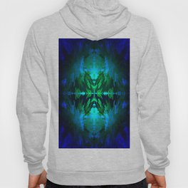 Blue columns in Abstract Hoody