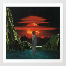 The World Was Beautiful On Fire Art Print
