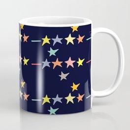 Colorful falling stars by night pattern Coffee Mug
