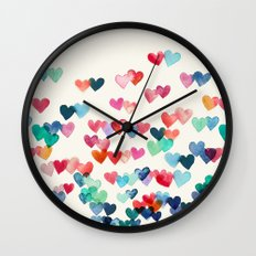 Heart Connections - watercolor painting Wall Clock