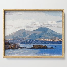 The Bay of Naples, Italy Serving Tray